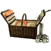 Picnic at Ascot Buckingham Willow Picnic Basket w/Service for 4 and Coffee Service, 714C-DO