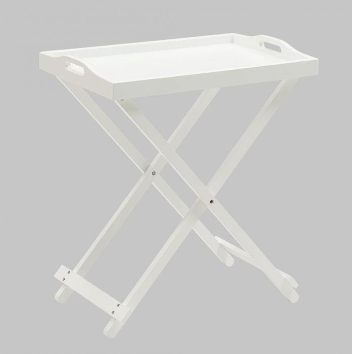 Designs2Go Folding Tray Table, White
