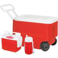 Igloo Wheelie 38 QT Cooler with Mini Mate and Jug, 1 QT
