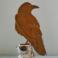 Elegant Garden Design Raven Bird Silhouette