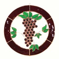 Gift Essentials Large Grapes n Vines Circle Window Panel