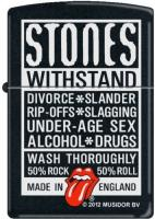 Zippo Rolling Stones Withstand 218 Black Matte