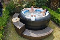 Avenli JL017331NN Four Person Spa Prolong Deluxe Inflatable Hot Tub with Artificial Leather Cover by JiLong Plastic Products