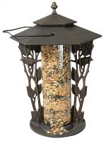 "Whitehall 12"" Chickadee Silhouette Feeder - Copper Verdi"