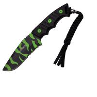 Z-Hunter Fixed Blade Knife w/Zombie Camo Serrated Blade