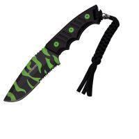 "Z-Hunter Fixed Blade Knife 3.75"" Zombie Camo Serrated Blade"