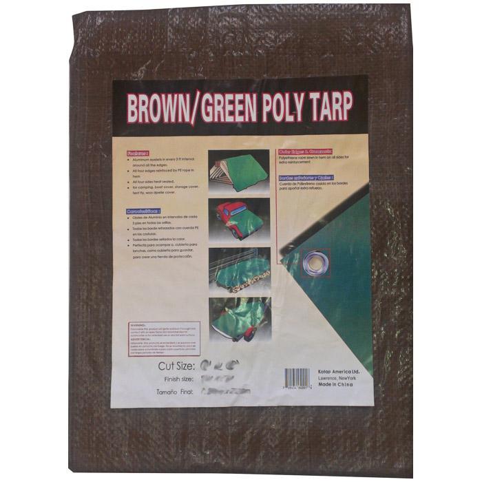 Kotap Reversible Brn/grn Tarp - 8x10