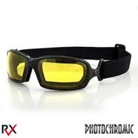 Bobster Action Eyewear Fuel Biker Goggles, Anti-Fog Yellow Photochromic Lens