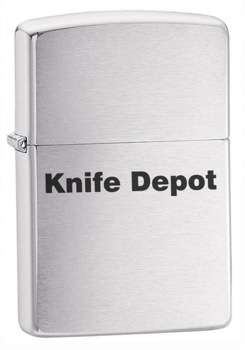 Engraved Zippo Satin Finish Lighter