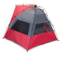 Picnic Time Haven Portable Sun and Wind Shelter, Red/Grey
