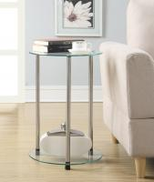 Designs2Go 2 Tier Round End Table (Glass)