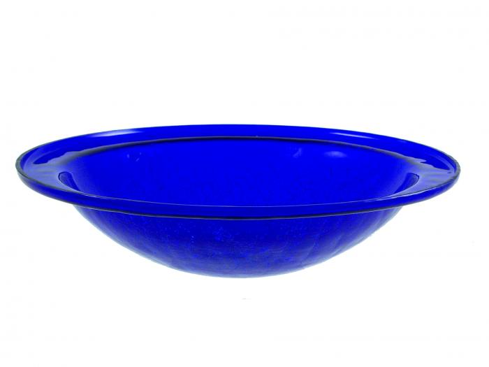 Achla Crackle Glass Bowl, Cobalt Blue (no cradle)
