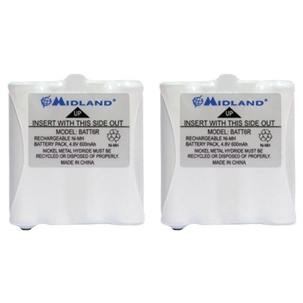 Midland AVP8 Two Pack of GMRS Batteries for 200 and 300 Series Radios