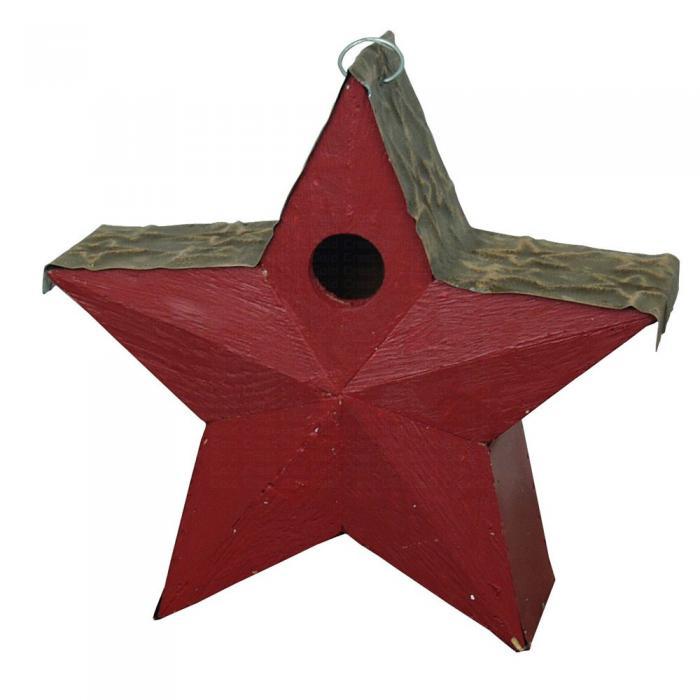 Songbird Essentials Country Star Birdhouse Red