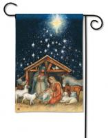 Magnet Works Holy Night Garden Flag