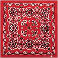 Carolina Manufacturing Texas Paisley Bandana, Red
