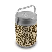 Picnic Time 9 Quart Capacity Can Cooler - Cheetah Print Can