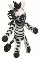 DZI Handmade Designs Zebra Woolie Fingerpuppet Ornament