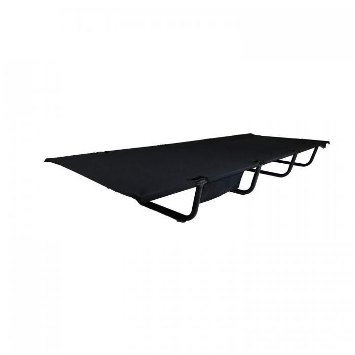 Big Grizzly Folding Cot w/ Side Pockets Black