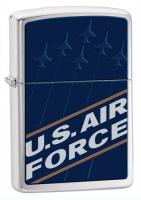 Zippo US Air Force Blue Brushed Chrome Zippo