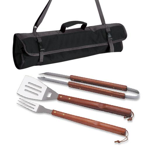 Picnic Time 3 Piece BBQ Set With Tote
