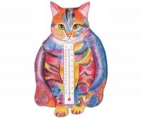 Songbird Essentials Thermometer Small Cat Fat Pstl Tabby