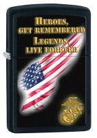 Zippo USMC Heroes Black