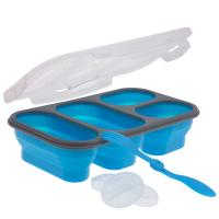 Smart Planet Blue 4 Compartment Collapsible Meal Kit