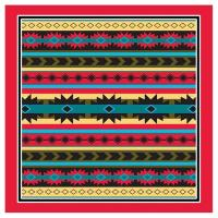 Liberty Mountain Modern Aztec Bandana w/ Red Trim