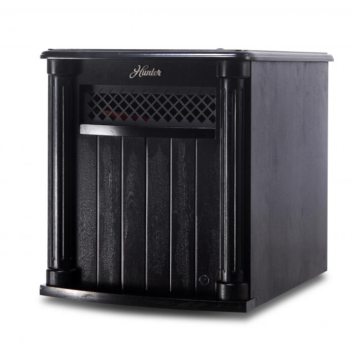 Hunter Home Comfort (H1500RC-BLK) 1500w 6 Quartz Element Infrared Wood Cabinet Heater with Remote Control