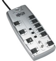 Tripplite TLP1008TELTV 10-Outlet Block-Style Surge Protector with Telephone & Coaxial Protection