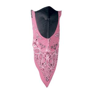 Neodannas 100% Cotton Bandana with Neoprene Facemask, Pink Paisley