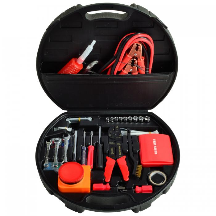 Picnic at Ascot Auto Roadside Emergency Tool Kit - 132 Pieces