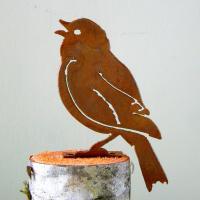 Elegant Garden Design Painted Bunting Bird Silhouette