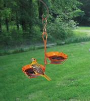 Songbird Essentials Copper Double Cup Jelly Oriole Bird Feeder