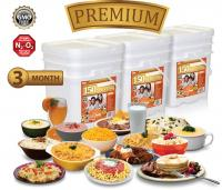Relief Foods 12-Month Premium Emergency Food Supply - 1,800 Serving, Premium Entrée and Breakfast Bucket