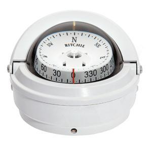 Ritchie S-87W Voyager Compass - Surface Mount - White