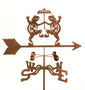 EZ Vane Dancing Frogs Weathervane