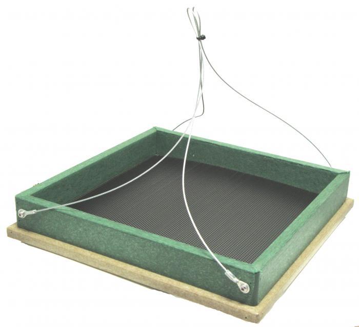 Songbird Essentials Hanging Platform Feeder Hunter Driftwood