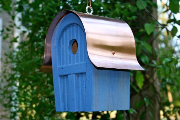 Heartwood Twitter Junction Bird House, Blue
