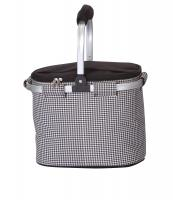 Picnic Plus Shelby Collapsible Market Cooler Tote - Houndstooth