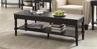 Convenience Concepts  French Country Coffee Table (Black)