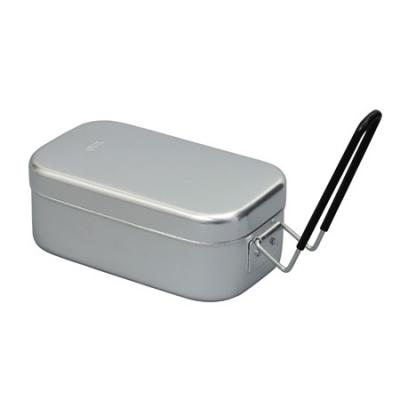 "Trangia Small Aluminum Mess Tin with Handle - 6.5"" x 3.5"" x 2.6"""