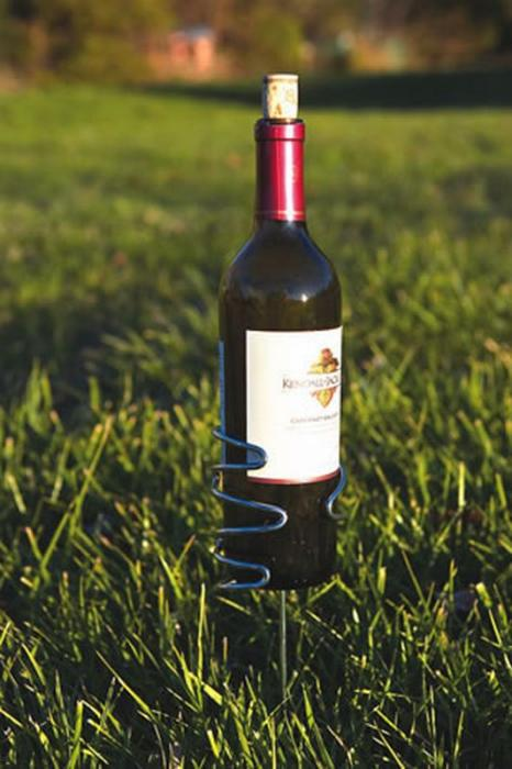 Picnic Plus Stainless Steel Wine Bottle Holder