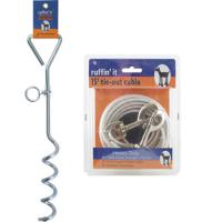 Ruffin' It Pet Products 15' Heavy Duty Cable Tie-out Silver