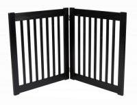 Small 2 Panel Free Standing EZ Pet Gate - Black