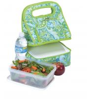 Picnic Plus Savoy Lunch Tote Green Paisley