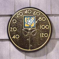 Whitehall Amber Dard Hunter Rose in French Bronze - Thermometer