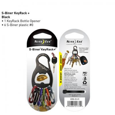 Nite-ize S-Biner Key Rack Bottle Opener - Black