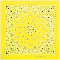 Carolina Manufacturing Neon Paisley Bandana Yellow